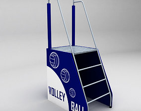 Referee stand volleyball low poly 3D model