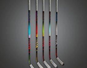Hockey Stick Set 01a - Sports And Gym 3D model