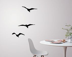 3D print model Flying birds for wall decoration