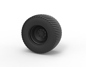 Diecast Rear wheel from Pulling tractor 3D print model