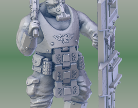 3D print model Armored Scifi Ogre with Shield