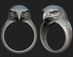 Hawk ring 3D printable model