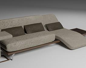 3D model VR / AR ready Modern Fabric Sofa