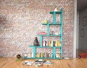 3D Modern Bookshelf archive