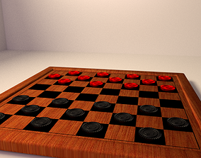 3D Checkers Board Game