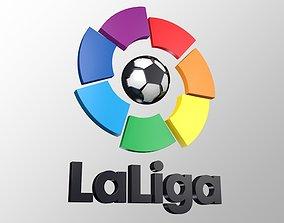 game-ready La Liga Spanish 3D LOGO