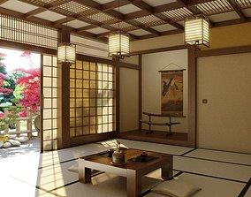 3D model Japanese Oriental Interior Scene Archinteriors 1