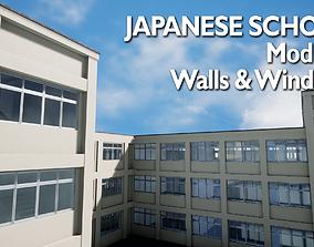 3D model Modular Japanese School - 36 Assets Pack