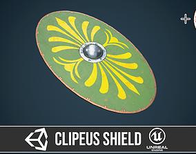 Roman shield clipeus 2 3D asset
