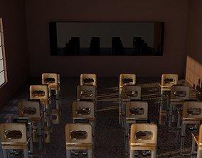 3D a simple computer class room