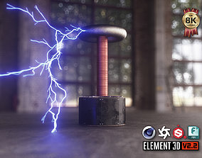 3D model VR / AR ready Tesla Coil