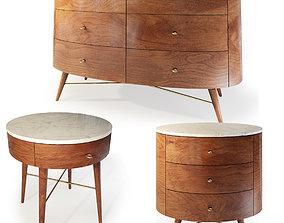 3D model Dresser bedside table by West Elm Acorn