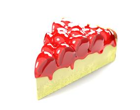 Strawberry cake 3D model