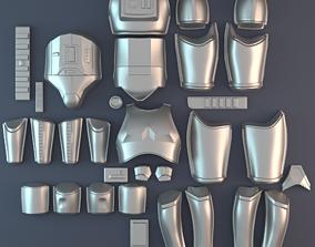 3D print model OT Stormtrooper armor vacuum form bucks