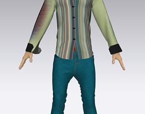 3D print model Man Shirt with Jeans Pant