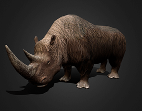 Wolly Rhinoceros - Animated Low-poly 3D model animated