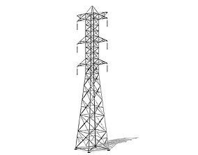 pylon Power line 3D model