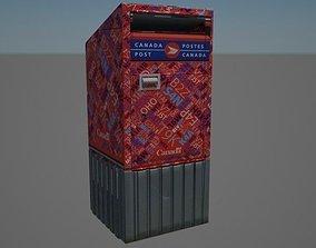 Canada Post Mailbox 3D model