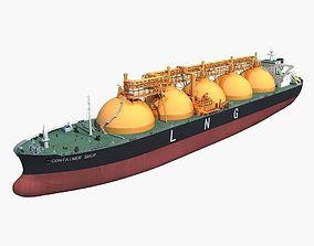 3D LNG carrier ship