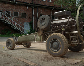 3D model DB-5 scout vehicle