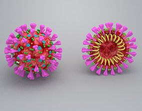 covid 19 virus 3D