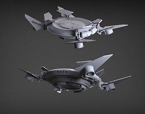 3D Sci-Fi Flying Platform