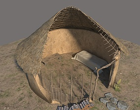 3D model Neolithic structure open