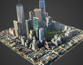 3D asset Square city S1
