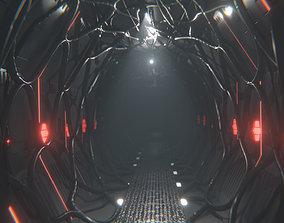 Sci Fi Corridor Tunnel Interior 3D model