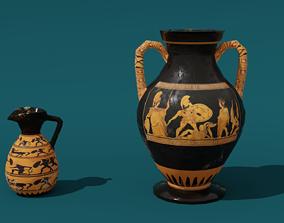 Low Poly Greek Jug and Amphora 3D model