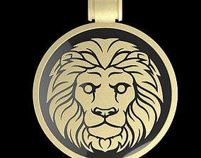 Lion pendant medallion 3D print model