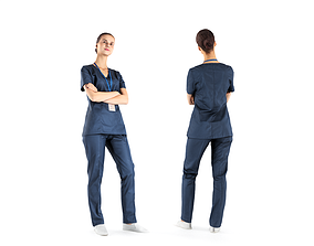 Surgical nurse 41 3D asset