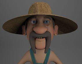 3D Cartoon Redneck NoRig