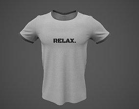 3D asset T-Shirt Male PBR Game-ready