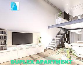 Modern Duplex Apartment Scene - Archicad 3D