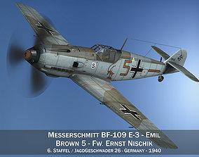 3D model Messerschmitt - BF-109 E - Brown 5