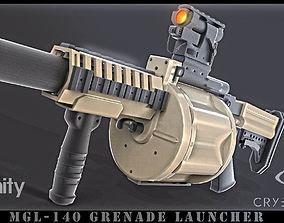 Grenade launcher 3D asset