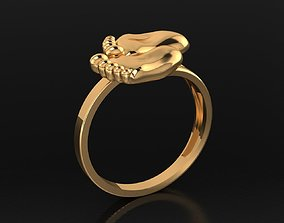 3D print model MGold022 Baby Ring 2