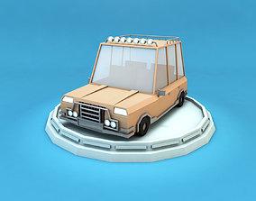 Cartoon Family Car 3D model