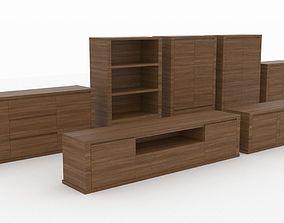 3D model Poliform TEIA cabinets set