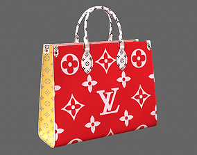 Louis Vuitton Onthego Giant Monogram Red Pink 3D model