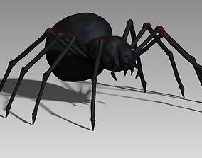 3D model Black spider