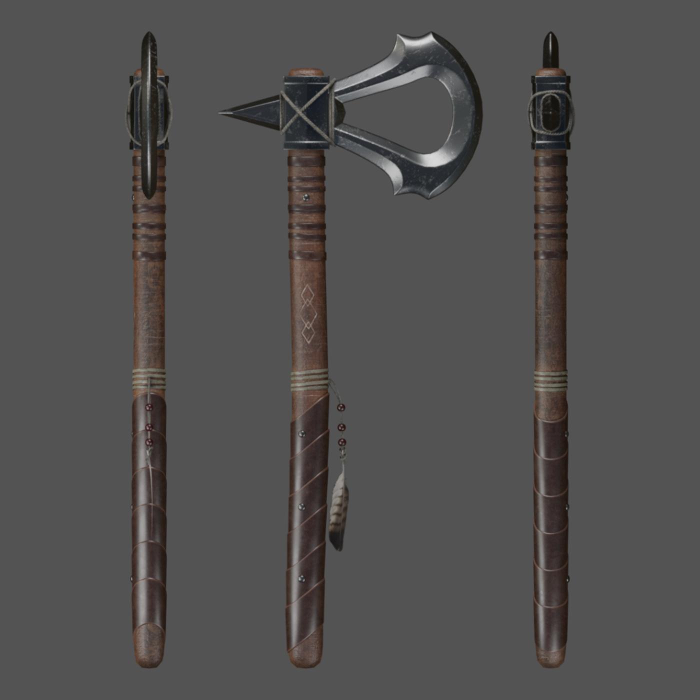 Assassin S Creed Iii Tomahawk Cgtrader