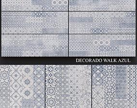 Keros Decorado Walk Azul 3D model