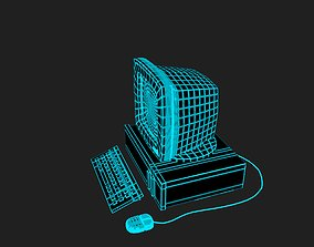 Vaporwave PC in 7 colours 3D model