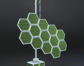 Solar panel planetary colonization space 3D model 1