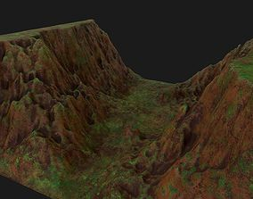 3d valley landscape piece for real time rendering realtime