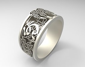 Ring Wolf Paw - Symbol of Veles 3D printable model