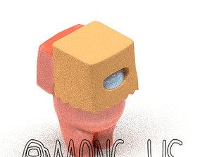 3D printable model AMONG US PAPER BAG