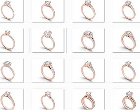 23 Solitaire ring Bulk 3dm stl render detail 3D print 1